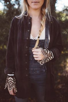 Last Dance Cuff under CP Shades x Free People Flannel Tunic Plaid at Free People Clothing Boutique