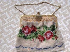 Pre 1901 Antique evening bag hand beaded, beautiful detail #EveningBag