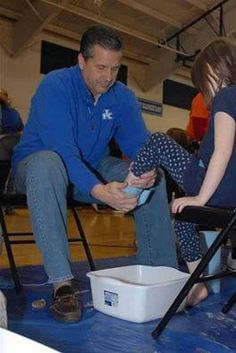 Cal named coach of the year. Not for basketball but for his work with Samaritan's Feet. Not only did he raise over 25,000 dollars, but he and all the team washed the feet of under privileged kids and then gave them a new pair of shoes. That won't make the evening press.