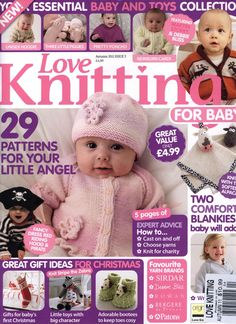 Stricken Baby :Love Knitting for Babies 2011 09 , Baby Cardigan Knitting Pattern Free, Love Knitting, Baby Boy Knitting Patterns, Knitting Books, Knitting For Kids, Baby Patterns, Knitting Magazine, Crochet Magazine, Knitted Baby Clothes