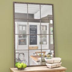 Specchio stile industriale in metallo H 120 cm | Maisons du Monde