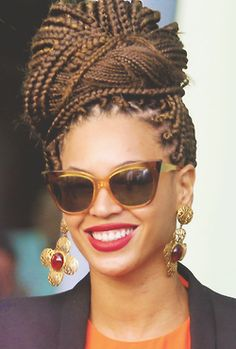 Easy to do long box braids hairstyles. Ways to style your box braids. Ideas about box braid. Braided Hairstyles For Black Women, Braided Hairstyles Updo, Cool Hairstyles, Braided Updo, Hairstyles Pictures, Hairstyle Ideas, Updo Hairstyle, Hairstyles Haircuts, Beyonce Hairstyles