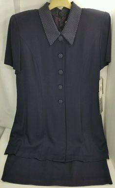 #NavyBlue #Shirt #Dress #14P #TaurusII #WeartoWork #Fashion #Apparel #Shopping #eBay