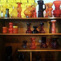 Our little collection. #vintage #retro #glass #midcenturyglass #midcenturymodern…