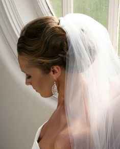 wedding bun with veil - Google Search