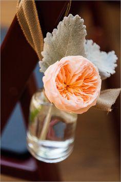 garden rose aisle decor #weddingflorals #aisledecor #weddingchicks http://www.weddingchicks.com/2014/03/14/charming-chattanooga-wedding/