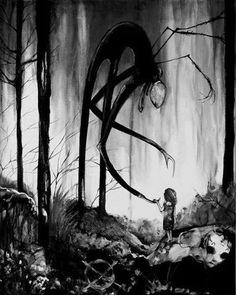 Slender man is getting closer... #art #drawing #horror