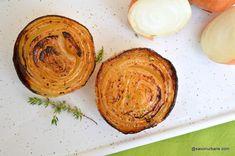 Ceapă caramelizată cu sos aromat - coaptă la cuptor reteta savori urbane Mai, Hummus, Ethnic Recipes, Food, Essen, Meals, Yemek, Eten