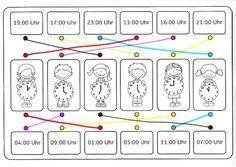 Würfelspiel zum Üben der Uhrzeit | Uhrzeit, Datum | Pinterest | Math ...