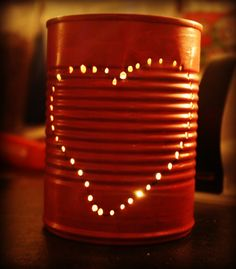 Learn how to make this Tin Can Craft for Valentine's day!