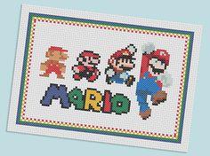 Mario cross stitch