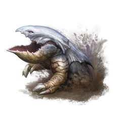 Bulette (from the D&D fifth edition Monster Manual). Art by Cory Trego-Erdner.