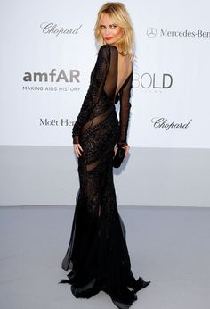 Natasha Poly in Emilio Pucci at Cannes.