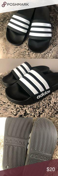 ef567e216 NIB ADIDAS Adilette Shower Slides Black White New New in Box