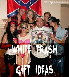Cool white trash gift ideas that you'll love. Includes white trash wine glasses, candy infused vodka, and even a white trash cookbook!