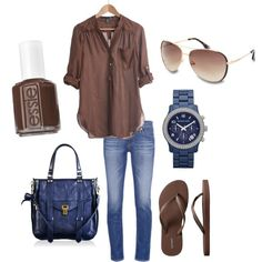 Blue & Brown combo by ttavill on Polyvore