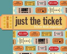 Just the Ticket: Ticket Stub Organizer by Peter Pauper Press http://smile.amazon.com/dp/1441303502/ref=cm_sw_r_pi_dp_CsDgvb1VVJXVG