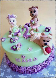 Cute baby girl bears cake Cute Baby Girl, Cute Babies, Bear Cakes, Bears, Birthday Cake, Desserts, Food, Birthday Cakes, Postres