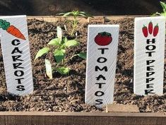 Precious Tips for Outdoor Gardens In general, almost half of the houses in the world… Vegetable Garden Markers, Herb Markers, Plant Markers, Vegetable Garden Design, Vegetable Gardening, Plastic Garden Edging, Decorative Garden Stakes, Garden Labels, Garden Signs