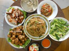 Meat, fish, noodle and spring rolls are a few common home cooked dishes during…