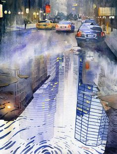 Watercolour Landscapes    Masterful urban watercolors by Grzegorz Wróbel, architectural designer from Varsavia, Poland.  More pictures along the post.