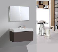 Bathroom Cabinets Miami adoos 30 inch modern glass top white bathroom vanity | bathroom