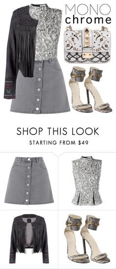 """""""Monochrome"""" by minchu ❤ liked on Polyvore featuring Miss Selfridge, Erdem, Lea Lov, Gucci, Valentino, monochrome, grey and gray"""