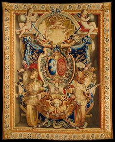 Tapestry (armorial hanging) Nationale des Gobelins ( French 1662)