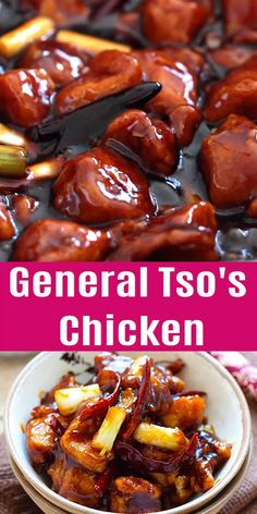 General Tso's Chicken - Deep-fried chicken in a sweet, savory and spicy General Tso's sauce. This recipe tastes like the best Chinese restaurants. general tso chicken recipe chinese food General Tso's Chicken Best Chinese Food, Authentic Chinese Recipes, Chinese Chicken Recipes, Easy Chinese Recipes, Chinese Food Dishes, Chinese Chicken Marinade, Healthy Chinese Food, Cooking Chinese Food, Chinese Desserts