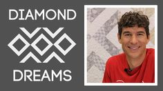 """Learn how to make this Diamond Dreams quilt using 10"""" squares!"""