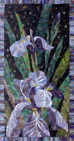 Мозаичное Панно Ирисы