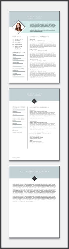 Modern Resume Template for Word \ Pages 1, 2 and 3 Page Resume + - 3 page resume