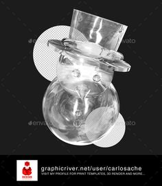 Snowman  3D Render — Photoshop PSD #3d #ice • Available here → https://graphicriver.net/item/snowman-3d-render/9478681?ref=pxcr