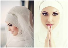 SIMPLE BRIDAL HIJAB TUTORIAL: WEDDING DAY HIJAB ♥ This hijab look is for a beautiful client of mine who will be watching it to put together her hijab fabrics...