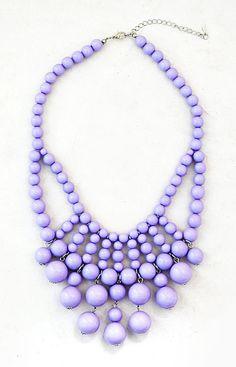 Beaded Necklace  Light Purple Necklace  by ShamelesslySparkly, $9.90