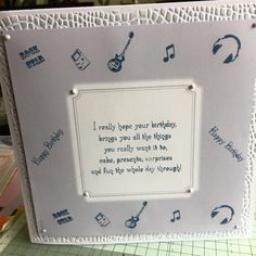 using teenage montage stamp collection by Phill Martin and his birthday verses and chic colours and paper pad