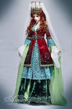 Historical stylization of the Turkish costume for an image Hurrem Sultan for our customer from Norway. Iplehouse nYID Bianca NS. Wig, face-up & outfit by Amadiz Studio. Our contacts: Etsy Shop ...
