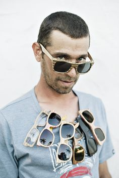 Sk8 Shades are hand crafted fashionable sunglasses made from recycled skateboards by one of South Africa's best skateboard ramp builders, Dave De Wit.