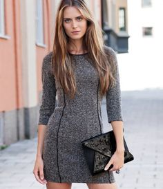 Nice dress, with leather details.