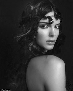 Kendall Jenner poses in beautiful black and white portrait for Atelier Versace book | Daily Mail Online