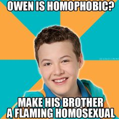 I never did quite get why Owen would do the stuff he did to Riley and Zane if Tristan is gay. Maybe he hadn't come out yet?