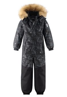 Reimatec reflective kids' warm winter overall with a lot of reflective details. Fully water- and windproof, as well as breathable. Straight fit. Room to Grow: All Reima products run about one size larger than traditional US sizes so ordering your child's current size is like ordering a size up. Click to learn more. [--Read More--] Kids' snowsuit with reflective print and excellent Reimatec quality! With sealed seams, this durable kids' winter snowsuit from our Reimatec range is completely… Velcro Tape, Kids Outdoor Play, Boys And Girls Clothes, Warm Down, Juniors Jeans, Snow Suit, Bergen, Fur Trim, Snug Fit