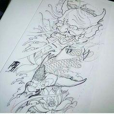 Japanese Koi Fish Tattoo, Japanese Dragon Tattoos, Japanese Tattoo Designs, Japanese Sleeve Tattoos, Frog Tattoos, Body Art Tattoos, Tattoo Drawings, Daniel Tattoo, Tattoo Studio