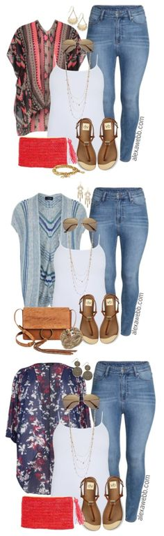 Jeans - Alexa Webb Plus Size Kimono amp; Jeans - Plus Size Outfit Idea - Plus Size Kimono amp; Jeans - Plus Size Outfit Idea - Curvy Girl Fashion, Look Fashion, Trendy Fashion, Plus Size Fashion, Womens Fashion, Fashion Trends, Spring Fashion, Trendy Style, Curvy Style