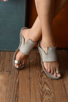 Item : Description: Occasion:Beach,Daily,Casual Heel Type:Flat Heel Toe Type:Flip-flops Heel Height:Low Shoes Style:Slip-On Style:Casual Gender:Women Lining Material:PU Upper Material:Leather Theme:Spring/Fall,Summer Color:Gray Length Leather Slippers, Leather Sandals, Shoes Sandals, Flat Sandals, Sandals 2018, Toe Ring Sandals, Mule Sandals, Cute Shoes, Me Too Shoes