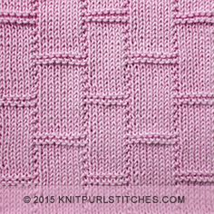Textured Tiles     Knit and purl stitches
