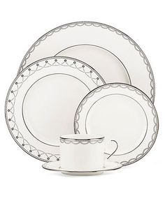 Lenox Dinnerware, Iced Pirouette Collection - Fine China - Dining & Entertaining - Macy's