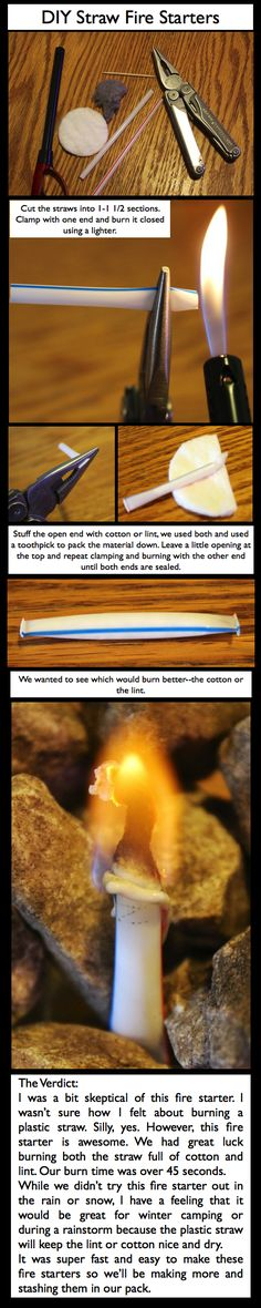 DIY Straw Fire Starter