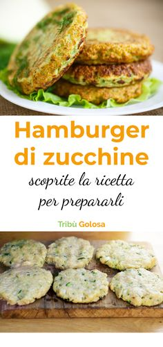 The recipe to prepare delicious zucchini burgers - Chef HELEN LOG Veggie Recipes, Diet Recipes, Vegetarian Recipes, Chicken Recipes, Healthy Recipes, Best Dinner Recipes, Food Inspiration, Carne, Easy Meals