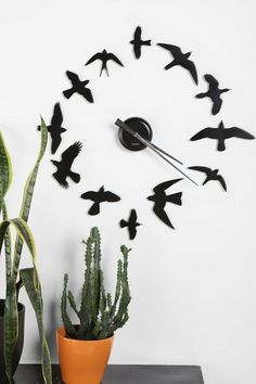 Love this bird, DIY clock! -K
